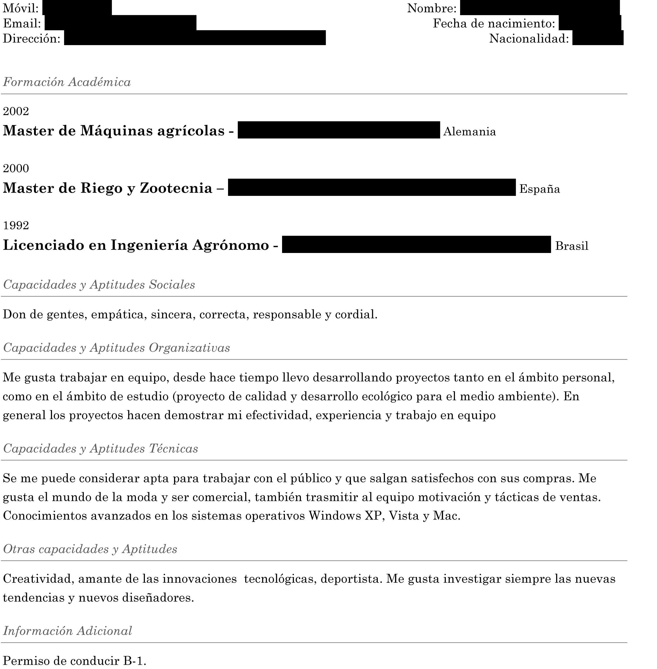 Resume latex template